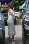 A pregnant Kourtney Kardashian visit her DASH store with sister Kim