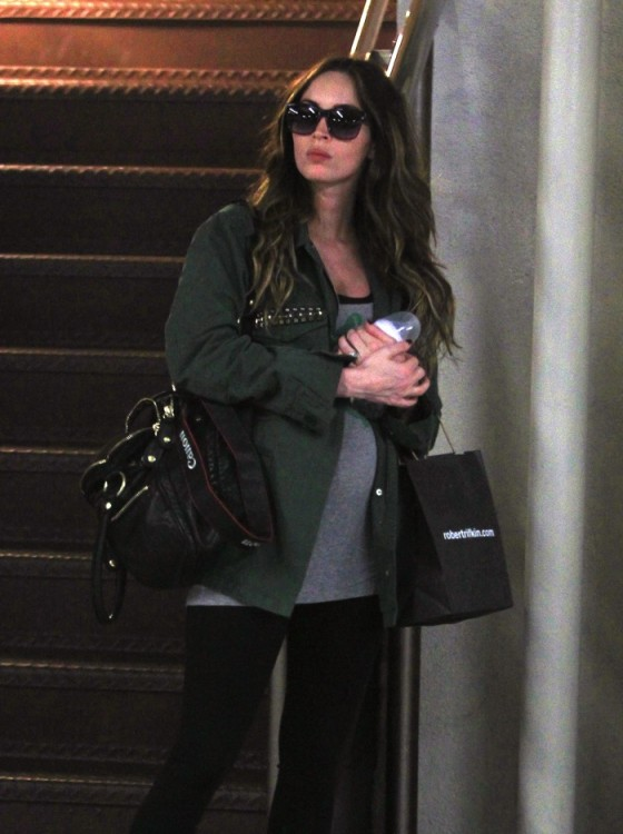 A pregnant Megan Fox visits the doctors in LA