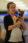 A very pregnant Ashley Hebert in Miami