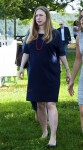A very pregnant Chelsea Clinton speaks at Disney Junior Event NYC