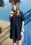 A very pregnant Chelsea Clinton speaks at Disney Junior Event in NYC