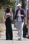A very pregnant Mila Kunis & Ashton Kutcher out in LA