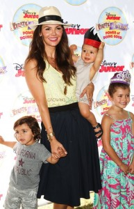 """ALi Landry with kids Marcello, Valentin and Estela at Disney Junior's """"Pirate and Princess Power of Doing Good"""" tour"""