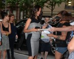Actress Zoe Saldana shows off her growing  Baby belly in NYC