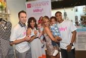 Adam Housley, Tamera Mowry with son Aden Housley, Tia Mowry with son Cree Mowry-Hardrict and Cory Hardrict