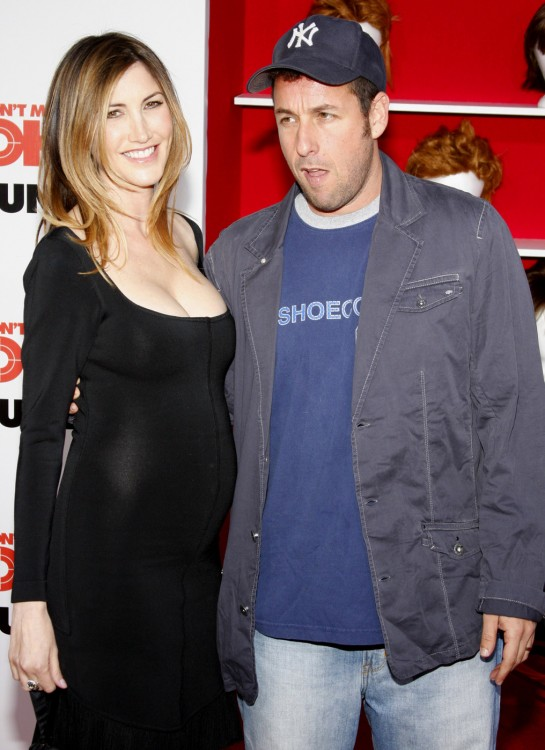 """Adam Sandler and his pregnant wife Jackie attend the World Premiere of """"You Don't Mess With The Zohan"""""""