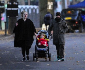 Adele and Simon Konecki Stroll with Son Angelo in London