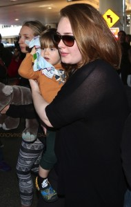 Adele at LAX with son Angelo