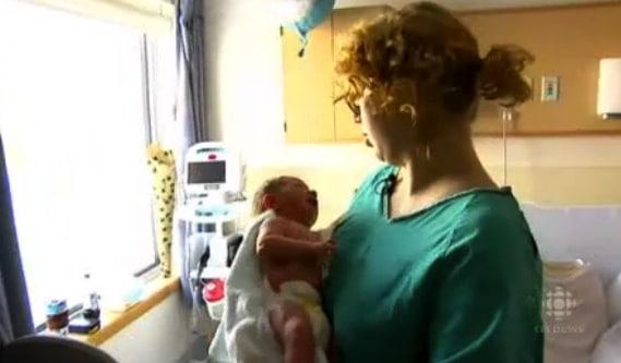 Aimee Renard with baby Jaxyn