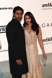 Aishwarya Rai, Abhishek Bachchan at AMFAR event Cannes 2014