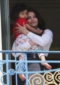 Aishwarya Rai and baby seen at Martinez Hotel in Cannes