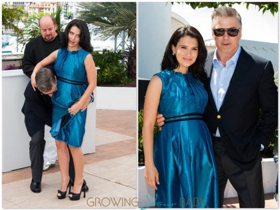Alec Baldwin & Pregnant Hilaria Thomas in Cannes 2013