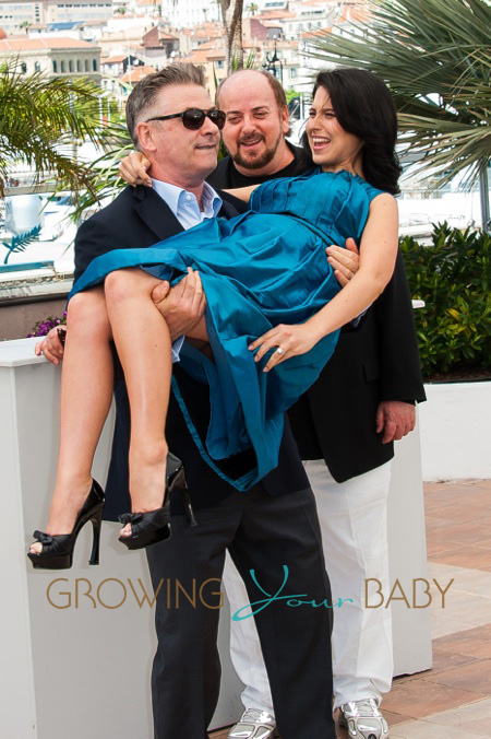Director James Toback, Alec Baldwin and Hilaria Baldwin attend the photo call for 'Seduced and Abandoned' during The 66th Annual Cannes Film Festival held at the Palais Des Festivals as part of the 66th Cannes Film Festival in Cannes