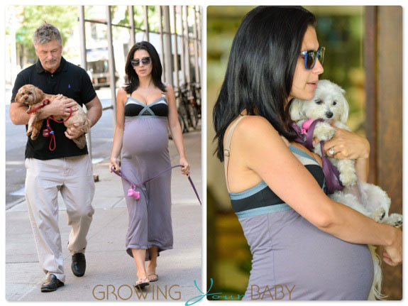 Alec Baldwin and his Pregnant Wife Hilaria out in NYC