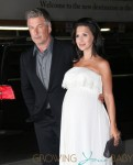 Alec Baldwin and wife Hilaria seen attend the premiere of 'Blue Jasmine' in New York City