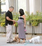 Alec Baldwin, And His Wife Hilaria Baldwin Walk the Dogs in New York City