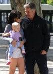 Alec and Hilaria Baldwin with daughter Carmen in Madrid