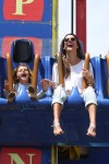 Alessandra Ambrosio and her daughter Anja at Santa Monica Pier