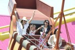 Alessandra Ambrosio and her daughter Anja at The Pacific Park at Santa Monica Pier