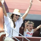 Alessandra Ambrosio & Her Family Play At The Pier