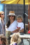 Alessandra Ambrosio and her son Noah at The Pacific Park at Santa Monica Pier
