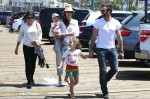 Alessandra Ambrosio, fiance Jamie Mazur and their son Noah and daughter Anja seen at The Pacific Park at Santa Monica Pier