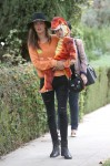 Alessandra Ambrosio seen gearing up for the Halloween with family in Brentwood, Los Angeles