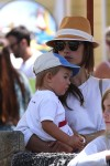 Alessandra Ambrosio with her son Noah at The Pacific Park at Santa Monica Pier