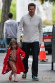 Alyson Hannigan is seen out and about with her husband Alexis Denisof and two kids Keeva and Satyana in New York City