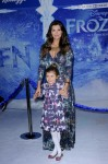 Ali Landry and daughter Estella at Disney Frozen Premiere