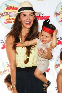 """Ali Landry with son Valentin At Disney Junior's """"Pirate and Princess Power of Doing Good"""" tour"""
