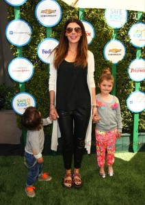 Ali Landry with his Marcello and Estella at Safe Kids Day in Los Angeles