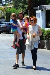 Alyson Hannigan, Alexis Denisof with Keeva & Satyana Denisof at the Brentwood Country Market