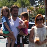 Alyson Hannigan & Her Family Step Out in Brentwood