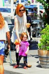 Alyson Hannigan and daughter Keeva at the Brentwood Country Market
