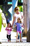 Alyson Hannigan treats her girls Satyana and Keeva to some Pinkberry