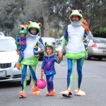 Alyson Hannigan with husband Alexis Denisof and their daughters Satyana and Keeva out for halloween
