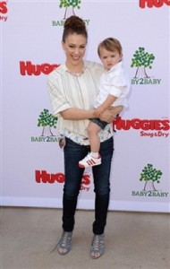 Alyssa Milano and son Milo at the Baby2Baby event in LA