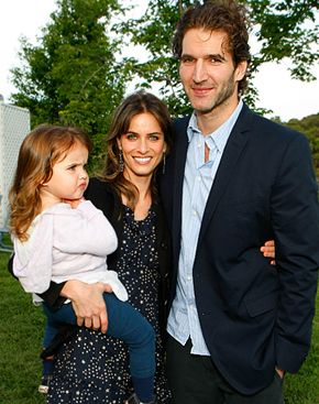 Amanda Peet and David Benioff with daughter Frances