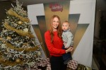 Amanda Righetti with her son Knox At the Secret Santa Workshop