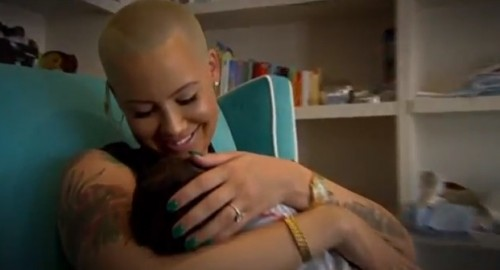 Amber Rose with her son Sebastian
