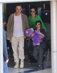 Angelina Jolie and Brad Pitt at LAX with son PAX