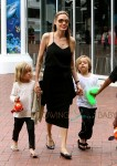 Angelina Jolie at the Sydney Zoo with  Knox and Vivian