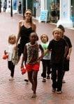Angelina Jolie at the Sydney Zoo with Pax, Shiloh, Zahara, Knox & Vivian