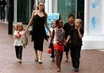 Angelina Jolie at the Sydney Zoo with Pax, Shiloh, Zahara, Knox and Vivian