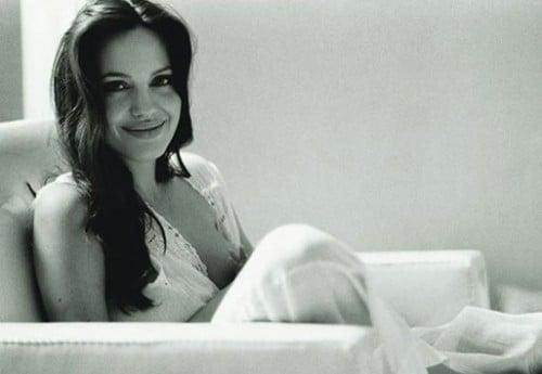 Angelina Jolie breastfeeding
