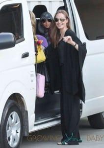 Angelina Jolie & Her Children Arrive Into Sydney Airport