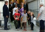 Angelina Jolie & Her Children Arrive Into Sydney Airport