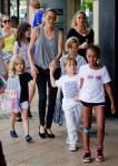 Angelina Jolie shops in Australia with Shiloh, Zahara, Vivienne & Knox