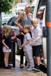 Angelina Jolie shops in Australia with Shiloh, Zahara, Vivienne & Knox